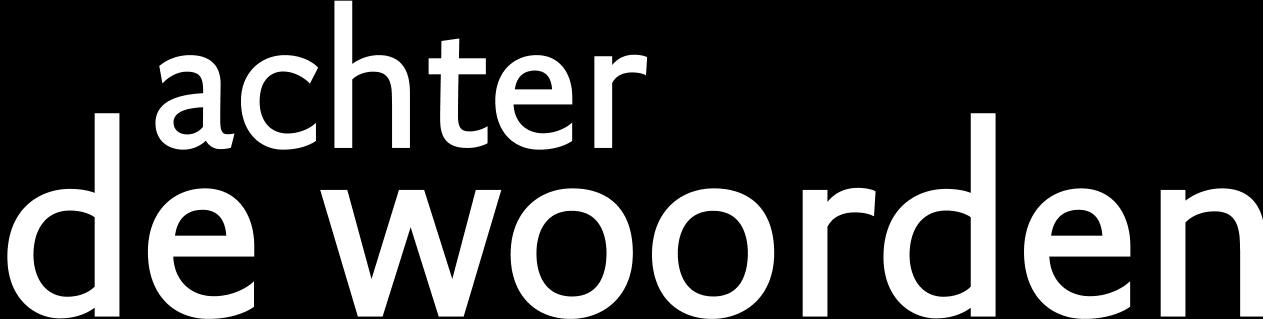 Logo Achter de woorden